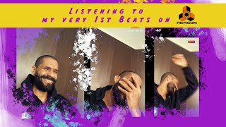 Listening (crying) to my first beats
