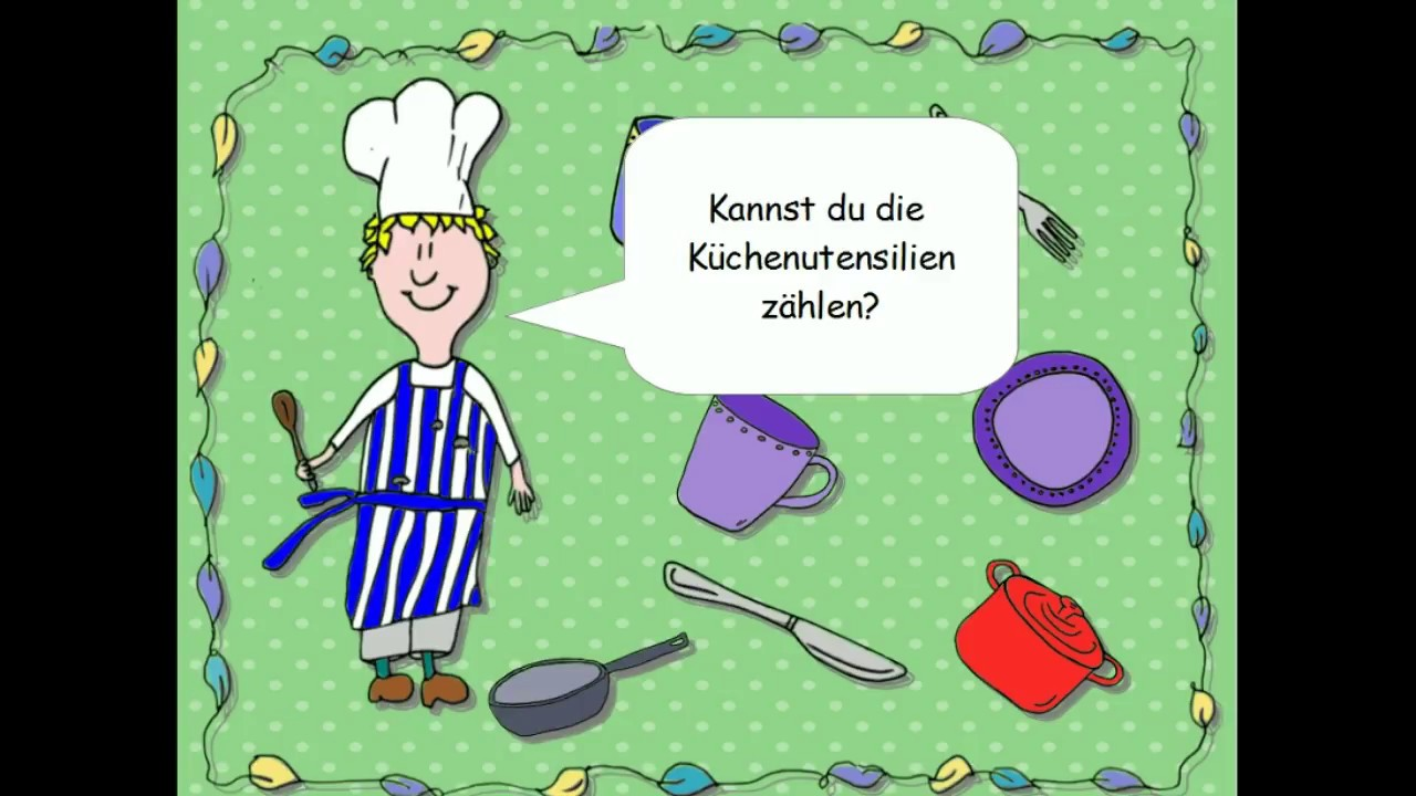 3 Basic German - Küchenutensilien Küche Zahlen kitchen kitchenware ...