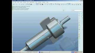 pro engineer: spigot cotter joint assembly