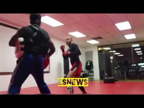 Fernando Guerrero training MMA star Jeff Martin