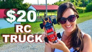 $20 RC Truck Better than $500 RC Truck? WLToys L343 1/24 Scale Brushed Monster Truck - TheRcSaylors
