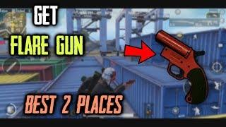 Get FLARE Gun in PUBG Mobile | Best Places To Get FLARE Gun