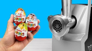 EXPERIMENT: MEAT GRINDER VS KINDER SURPRISE