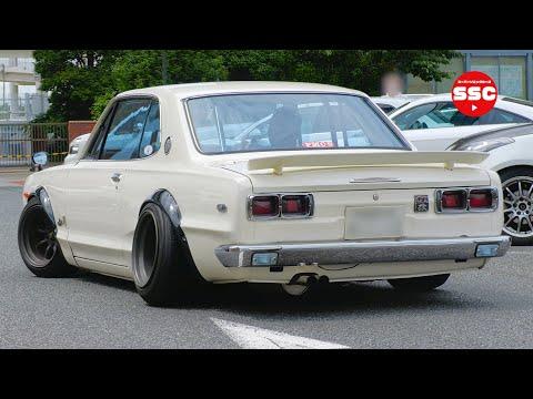 この感じがたまりません❗️【段差エリア】旧車 日本車 ネオクラ 絶版車 大黒PA