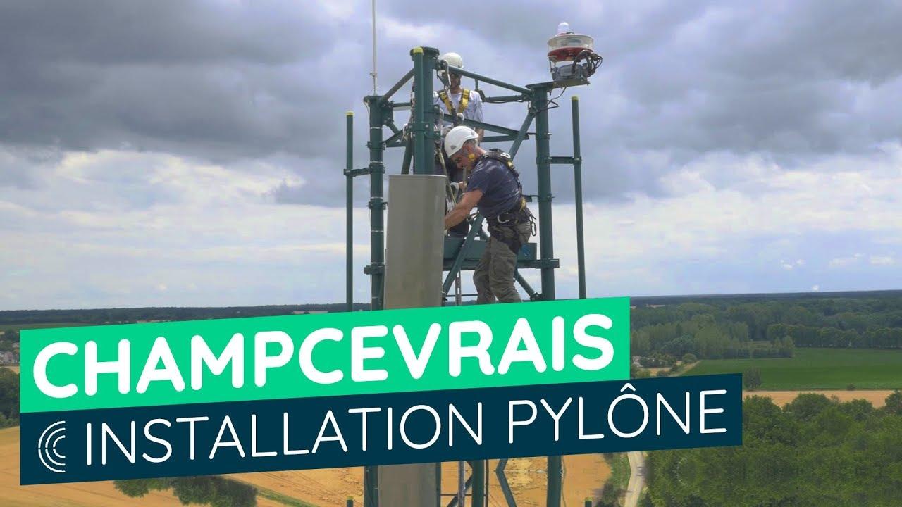Champcevrais (Yonne) - Installation d'un pylône multi-opérateurs