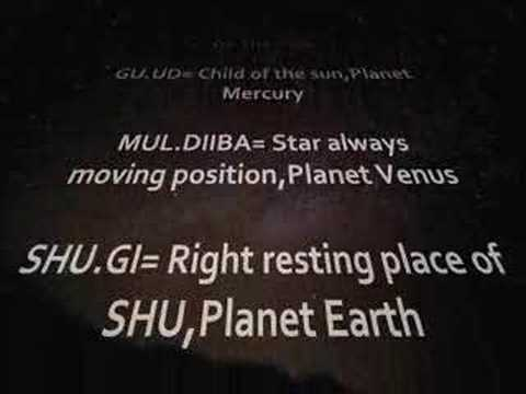 Sumerian Astronomy -The 12th Planet and the Annunaki-