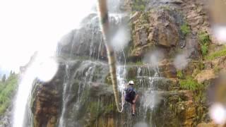 Rappelling Bridal Veil Falls - Provo Canyon, UT 7-14-2012