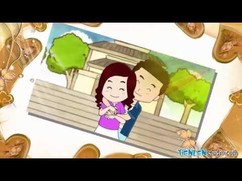 [tienlen studio] clip hoạt hình đám cưới: BÍ KÍP CUA TRAI (chuyện tình Trân&Toàn)