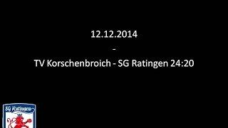 TV Korschenbroich - SG Ratingen 24:20 (11:12)