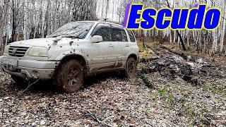 Suzuki Escudo. Автомобили меняются, а лужи остаются прежними.