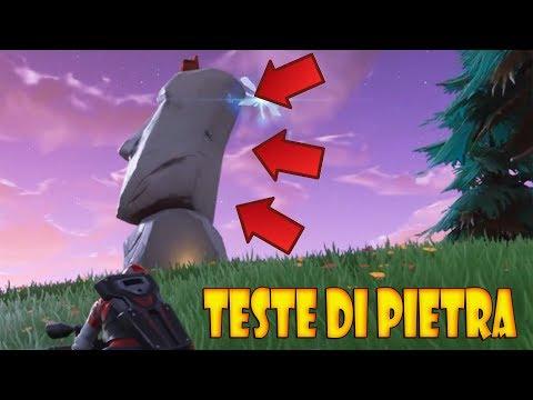 FORTNITE VISITA DIVERSE TESTE DI PIETRA