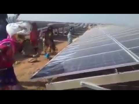 Destruction of solar panels in India  People destroy solar panels in India
