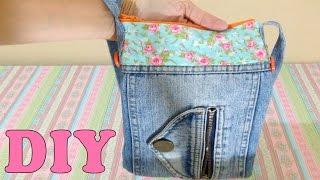 Do Lixo ao Luxo : Bolsa de Calça Jeans Reciclada
