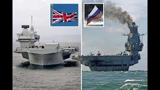 Who would win in a fight  - HMS Queen Elizabeth or Putin's flagship Admiral Kuznetsov