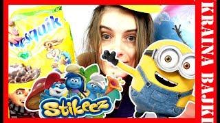 Stikeez Smerfy LIDL vs Gru, Dru i Minionki od Nestle! Szukamy Figurek Minionków w płatkach Nesquik