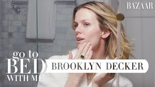 Brooklyn Decker's Nighttime Skincare Routine | Go To Bed With Me | Harper's BAZAAR