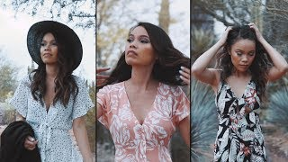 Collaborating with Other Creators | Desert Fashion Shoot (Vlog #1)