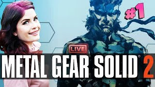Metal Gear Solid 2 (Part 1) First Time Playing!