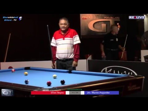 14/1 Efren Reyes vs Martin Poguntke Money Game German Tour 2015/2016