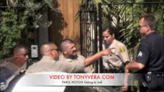 Paris hilton Going to Jail Paparazzi Police and Sheriffs News fans