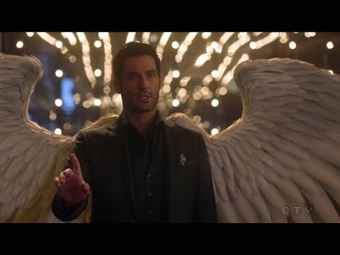 Lucifer reveals his wings to Charlotte - Lucifer S03E19