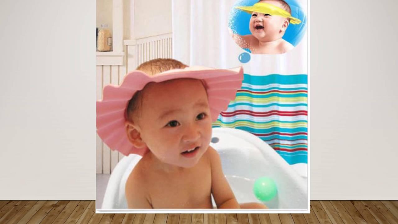 Furniture Adjustable Baby Kids Boys Girls Protective Shampoo Bath Bathing Shower Cap Hat Wash Hair Shield