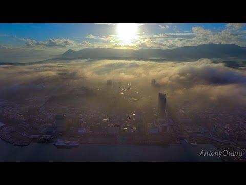 霧鎖基隆港 海洋量子號 keelung City Taiwan. (4K)拍攝畫面