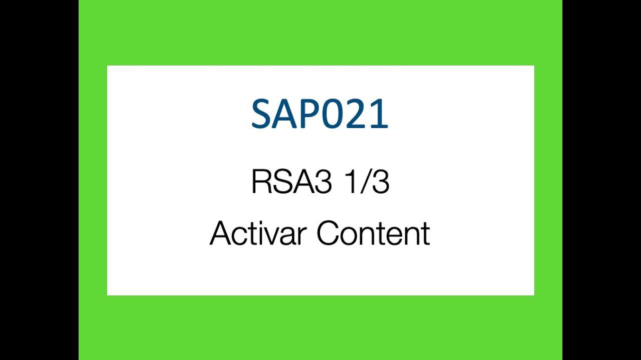 sap bw bi rsa1 1de3 activacin de objetos del contentavi