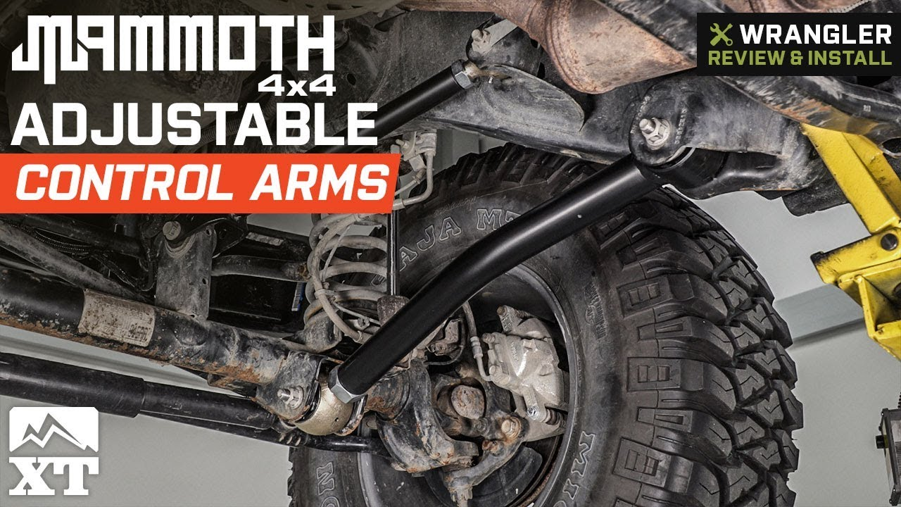 Jeep Wrangler Jk Mammoth Adjustable Control Arms