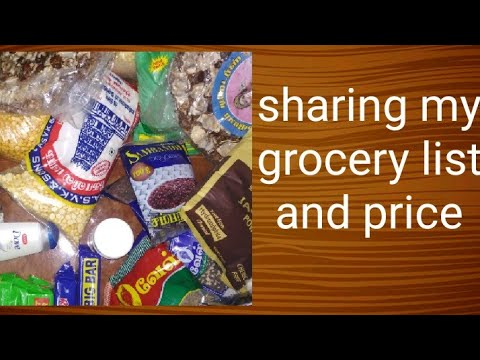 sharing my grocery list and price grocery list in tamil home