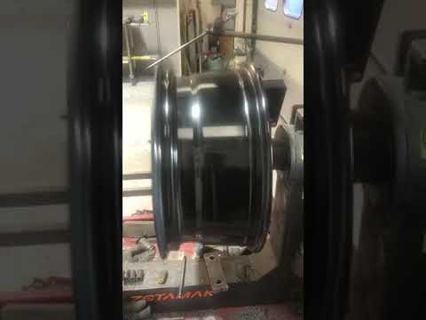 Buckled alloy wheel 2