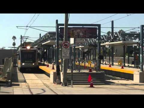 Los Angeles Metro-Expo Line- Santa Monica --Extension TEST TRAIN