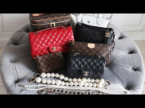 DIY Pearl Straps on Chanel & Louis Vuitton Bags - YouTube