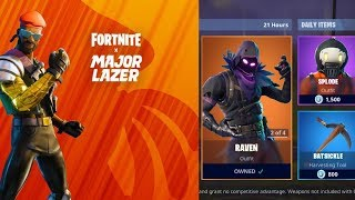*NEW* MAJOR LAZER SKIN Fortnite Item Shop Update Today - August 22 (Fortnite Battle Royale Live)
