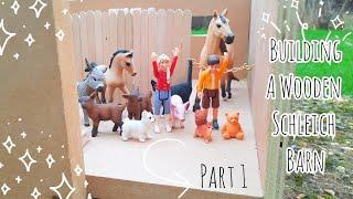 Building a Schleich Barn from Scratch!    Part 1 : Designing and Building    Schleich Horse DIY