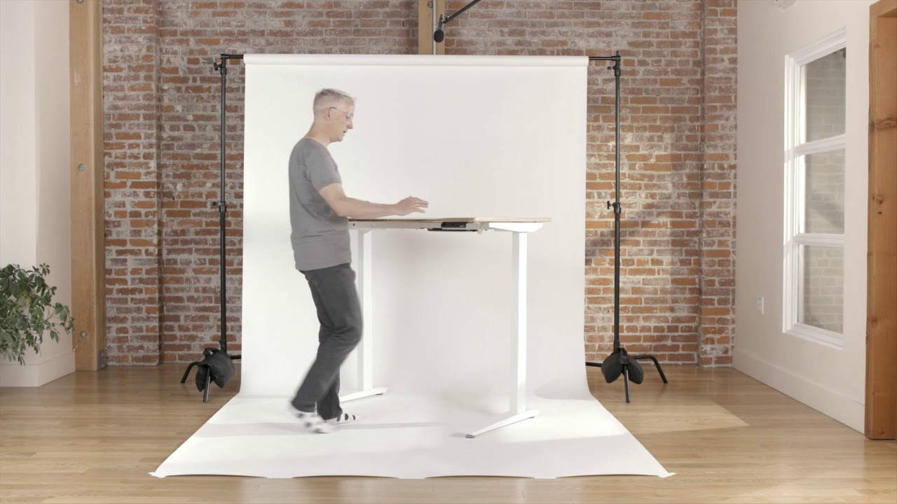 Jarvis Bamboo Standing Desk By Fully Youtube