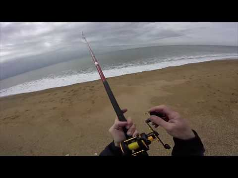 Chesil Beach Sea Fishing. Cogden. 20th March 2020.