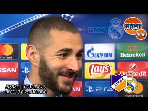 KARIM BENZEMA post Apoel 0-6 Real Madrid | Soy muy feliz en el Real Madrid (21/11/2017)