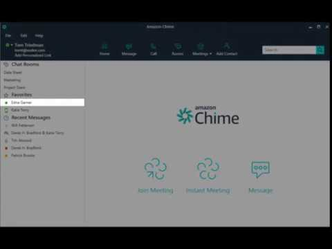 Amazon Chime Chat Overview