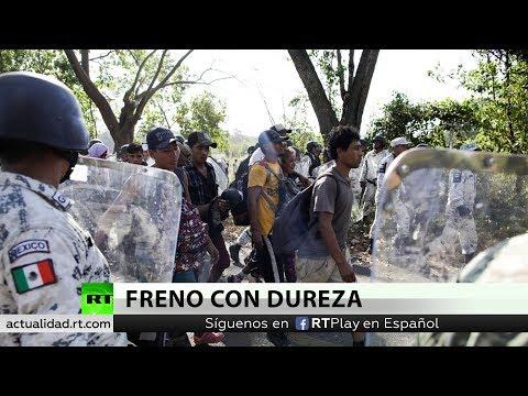 RT en Español: La Guardia Nacional de México impide el paso de la caravana migrante en Chiapas