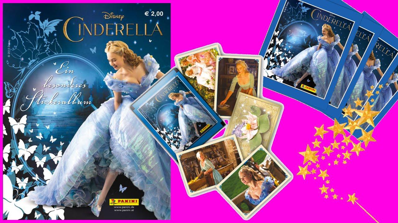 Disney Princess Cinderella Surprise Sticker Packs Opening & Album ...