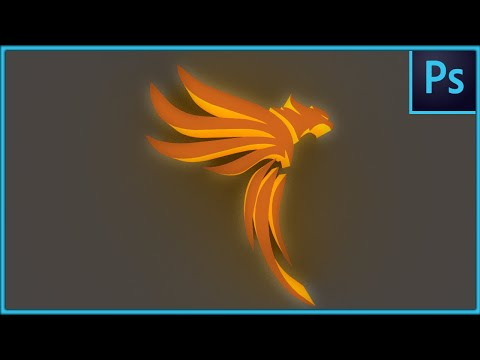 Convert 2D Into 3D LOGO - Easy Adobe Photoshop CC 2020 Tutorial
