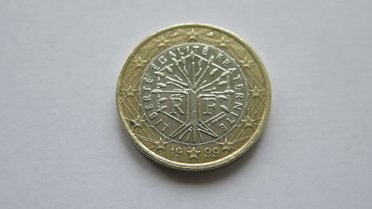 1 Euro Coin France 1999 Youtube