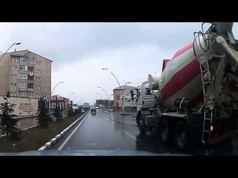 Ağrı ili yağmurlu bir günde kısa şehir turu