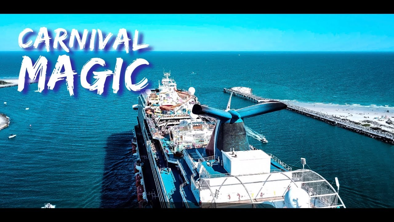 Amazing Close Up Footage of the Carnival Magic Cruise Ship by Drone leaving  Port Canaveral