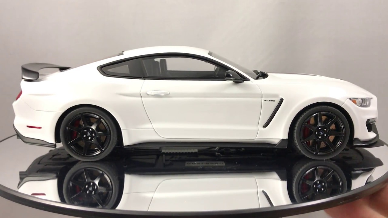 Gt350r Review >> Review of Gt Spirit Ford Mustang Shelby GT350R White with Black Stripes Resin Model Car 1:18 ...