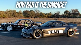 How bad is the Damage on the 4 Rotor RX-7 from racing the Hoonicorn?
