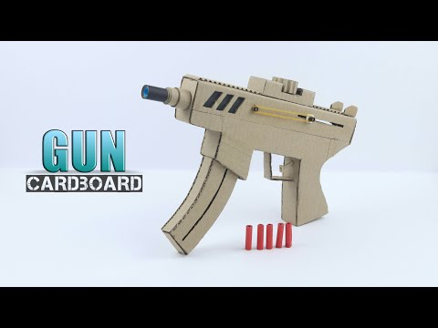 How to Make Cardboard Gun -With Magazine  (Very Simple )