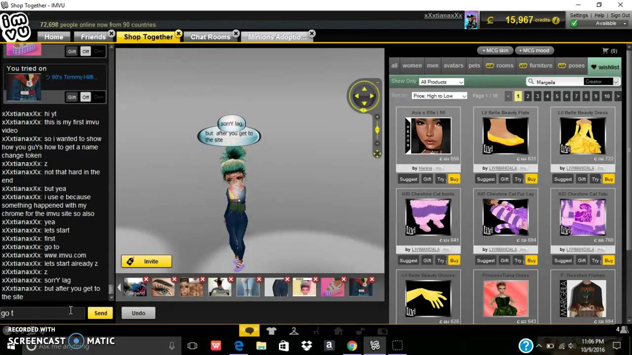 Get a free name change token on imvu