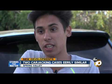 Two carjacking cases eerily similar in spring valley